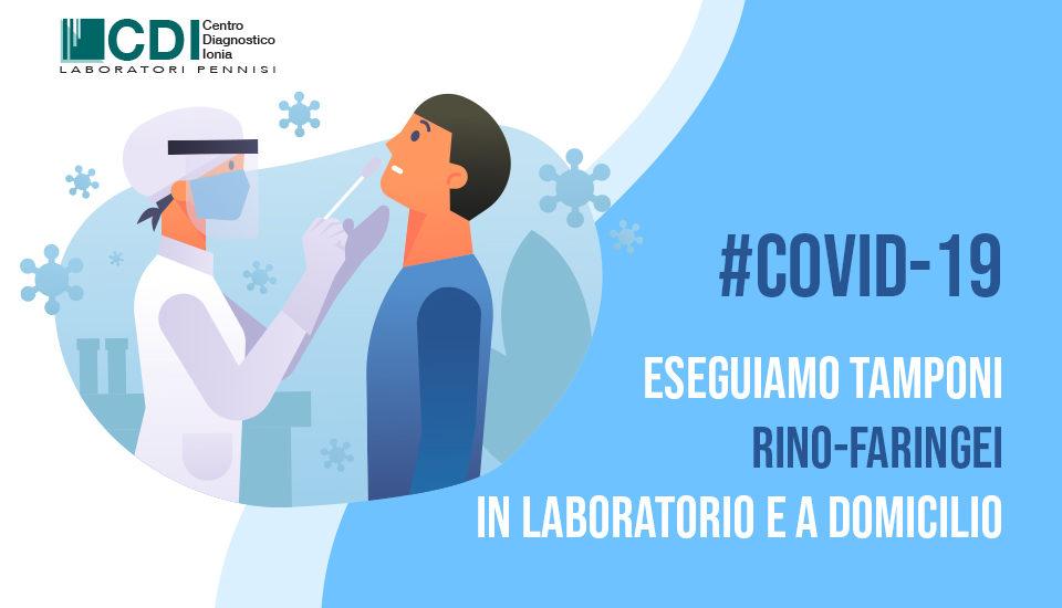 Eseguiamo tamponi rino-faringei per CoVID-19